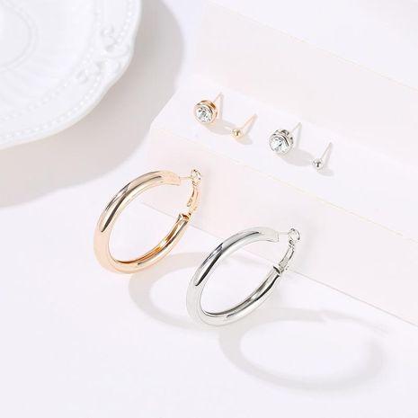 Fashion circle stud earrings NHDP171406's discount tags