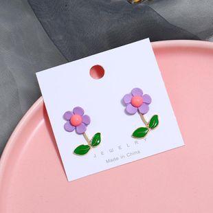 Pendientes de flores de resina párrafo largo moda simple NHKQ171276's discount tags