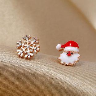 Moda simple color caramelo asimétrico caja de regalo antigua Pendientes navideños NHKQ171286's discount tags