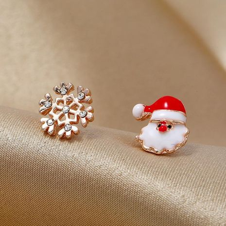 Fashion simple asymmetric candy color old gift box Christmas earrings NHKQ171286's discount tags