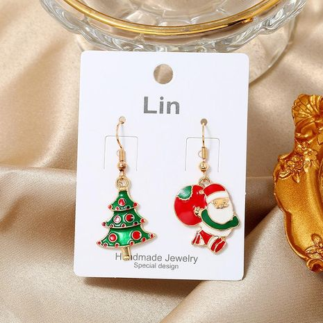 Simple fashion Christmas candy color old man gift box Christmas earrings NHKQ171285's discount tags