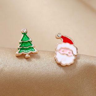 Regalo de moda simple color caramelo caja de regalo de hombre viejo pendientes de navidad NHKQ171288's discount tags