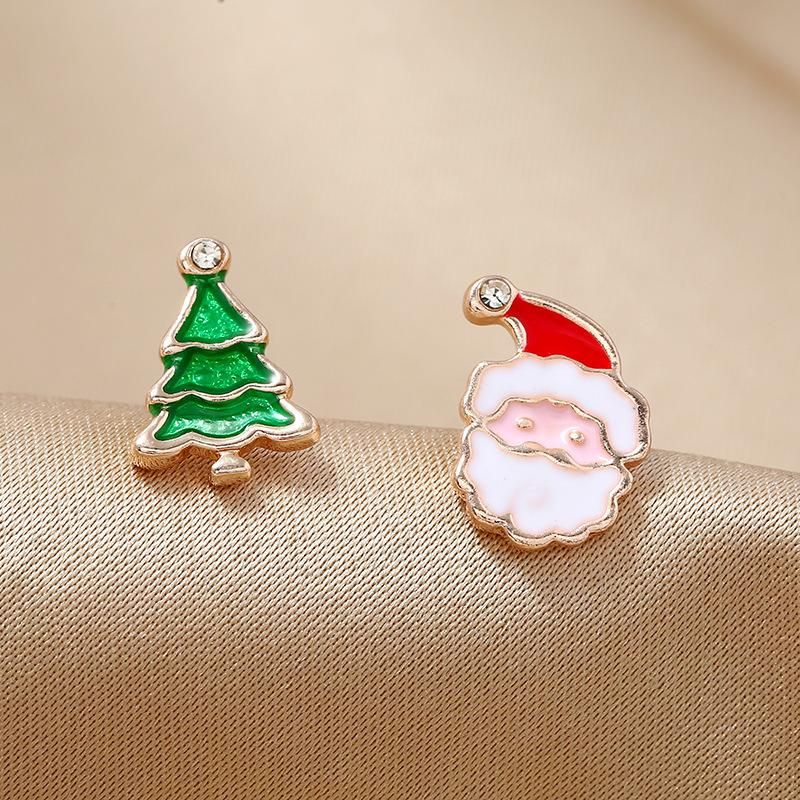 Simple fashion gift candy color old man gift box christmas earrings NHKQ171288