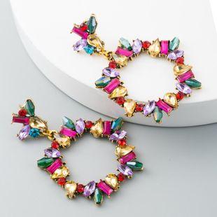 Aleación de acrílico Stud Pendientes Moda Premium Diamante Vintage Navidad NHLN171445's discount tags