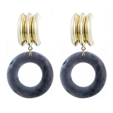 Retro simple acetic acid sheet acrylic round alloy long exaggerated geometric earrings NHLN171454's discount tags