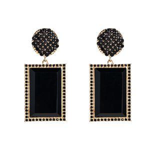 Pendientes geométricos de diamantes de moda vintage Navidad NHLN171455's discount tags