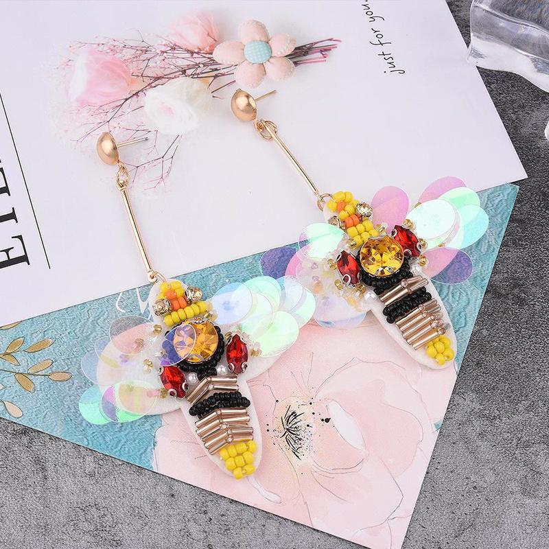 Little bee tassel earrings simple personality long section NHVA171473