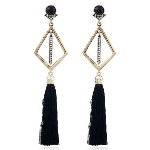 Simple fashion long earrings vintage tassel NHVA171471