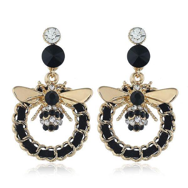 Fashion Insect Alloy Earrings Long Fringe Retro NHVA171475