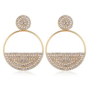 Pendientes de aleación de diamantes y perlas en forma de corazón largo NHVA171477's discount tags