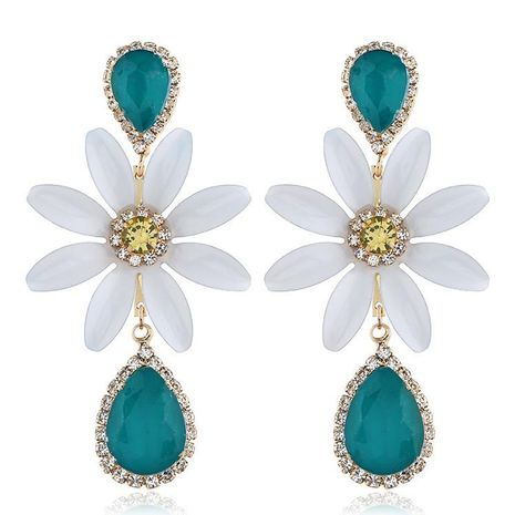 Popular minimalist flower-studded earrings NHVA171480's discount tags