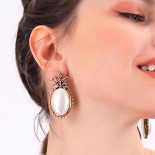Pendientes de piedras preciosas de aleación simple de moda retro grava discreta NHJQ171219's discount tags