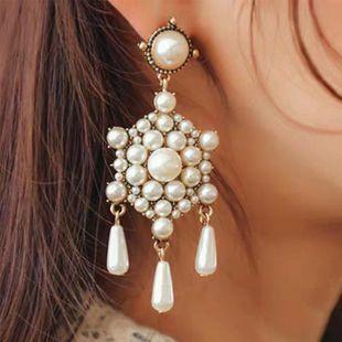 Pendientes de perlas Pendientes de lujo vintage Geometría simple NHJQ171220's discount tags