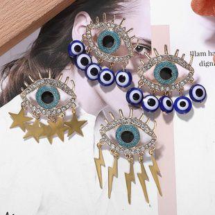 Pendientes de ojo de diamante de aleación simple Pendientes asimétricos Star Lightning NHJQ171227's discount tags