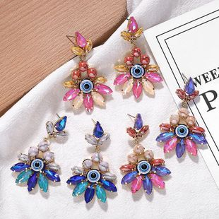 Fashion alloy diamond earrings are irregular NHJQ171230's discount tags
