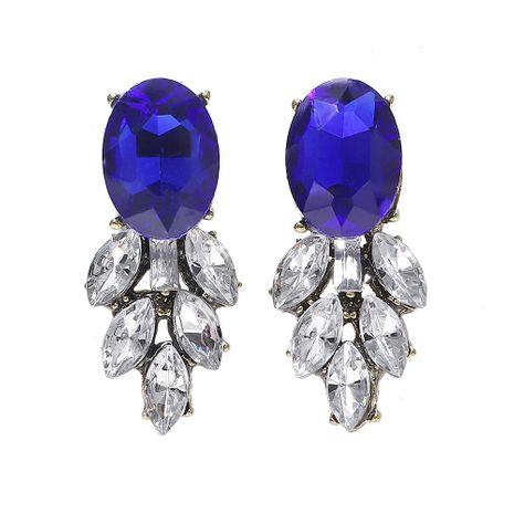 Alloy diamond-set gemstone earrings NHJQ171232's discount tags