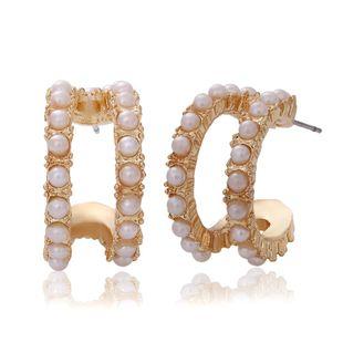 Pendientes de diamantes de aleación simples y versátiles. NHJQ171236's discount tags