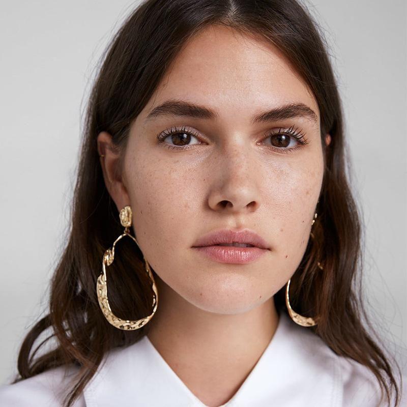 Alloy earrings atmosphere simple earrings fashion big circle NHJQ171245