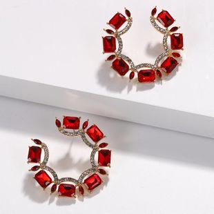 Pendientes creativos de piedras preciosas marea de moda NHJQ171248's discount tags
