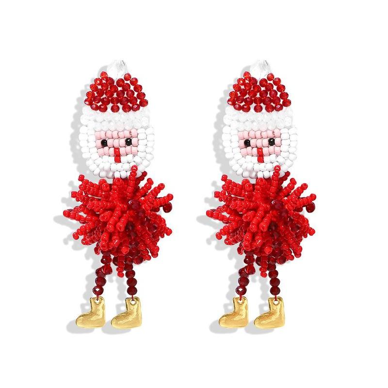 Rice beads woven animal earrings fashion Christmas NHJQ171250