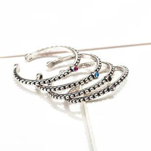 Anillo retro simple de cola abierta de cobre con diamantes NHDP171389's discount tags