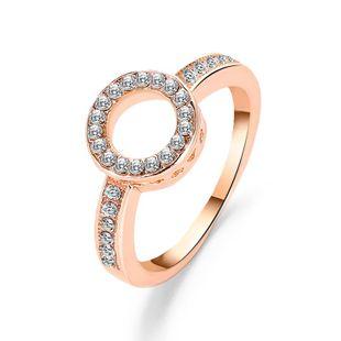 Elegante geometría de anillo de círculo de diamantes NHDP171398's discount tags