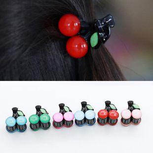 Pinza de pelo de cereza de moda fruta flor de acrílico NHDP171425's discount tags