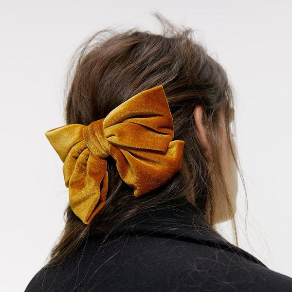 Velvet bow hairpin fashion card NHJQ171237