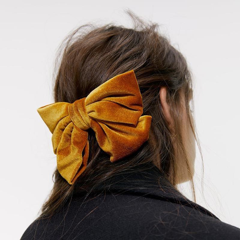 Velvet bow hairpin fashion card NHJQ171237
