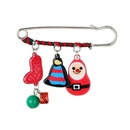 Cartoon cute acrylic christmas snowman deer hat old man head logo badge brooch NHGY171261