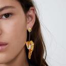 Alloy pearl earrings simple atmosphere NHJQ171246
