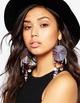 Earrings, hand-woven beads, sleek minimalist NHJQ171247