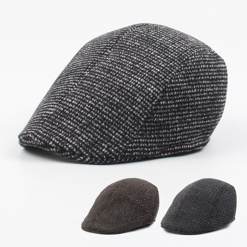 Autumn and winter new plaid casual cap NHXO171629