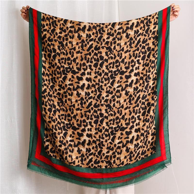 Women's scarf leopard-print cotton shawl NHGD171713