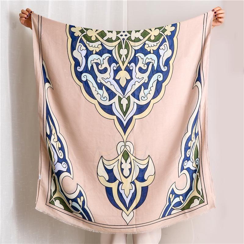 Women's scarf fashion printed cotton shawl NHGD171717