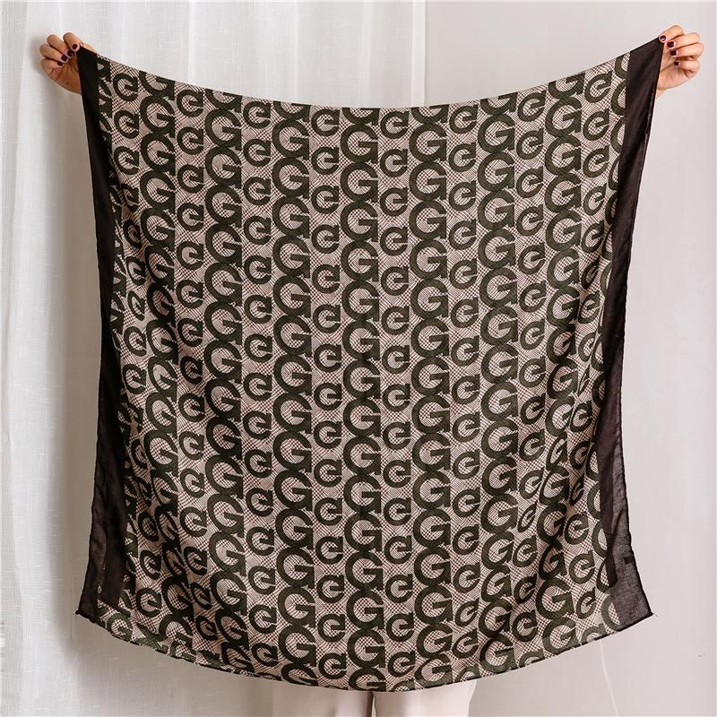 Letter cotton and linen scarf women sunscreen shawl NHGD171720