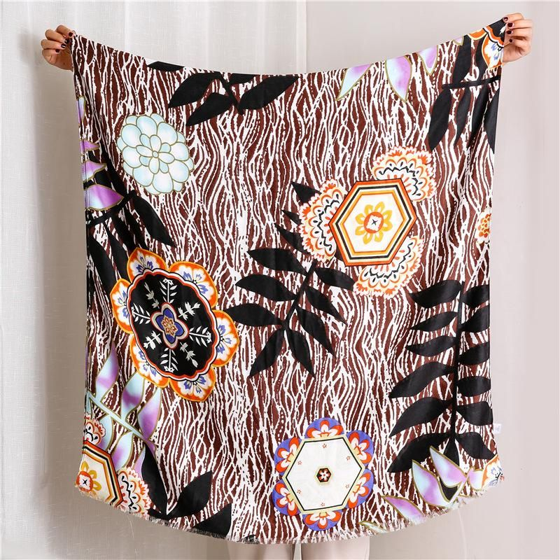 New printed cotton and linen scarf sunscreen shawl NHGD171722