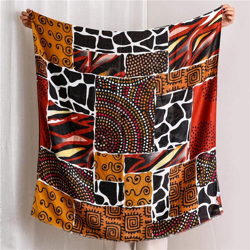 New vine leopard cotton and linen scarf sunscreen shawl NHGD171723
