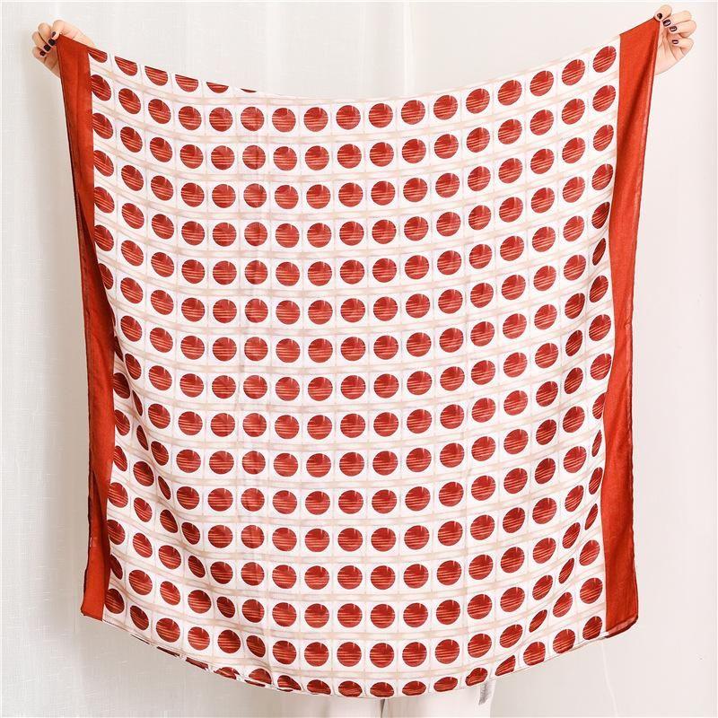 Women's scarf fashion striped polka dot cotton shawl NHGD171779
