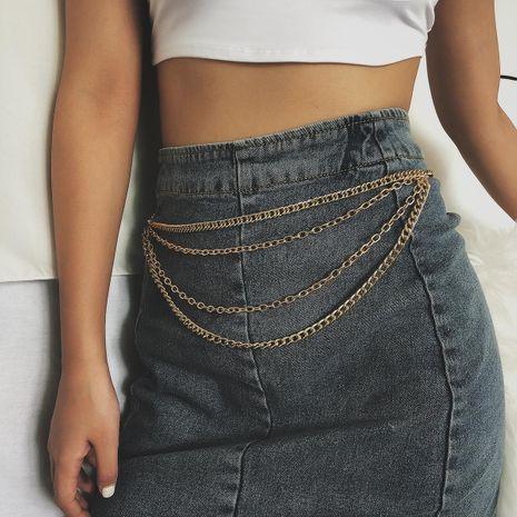Sexy geometric wild tassel retro simple fashion U-shaped chain NHXR171332's discount tags