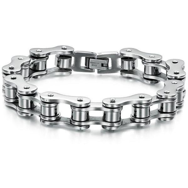 Pulsera de acero de titanio para hombre de cadena simple nueva máquina NHOP172147