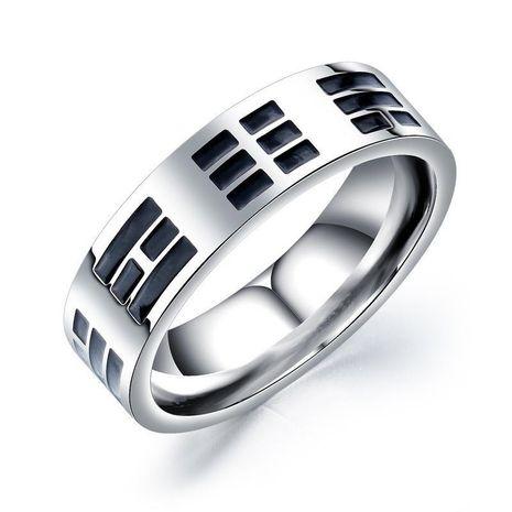 Men's Titanium Steel Ring Tai Chi Single Retro Ring NHOP172144's discount tags