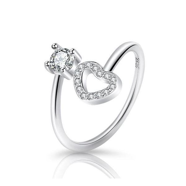hollow open ring female sweet diamond ring NHQL172052