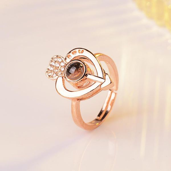 Heart-shaped memory ring female adjustable NHQL172064