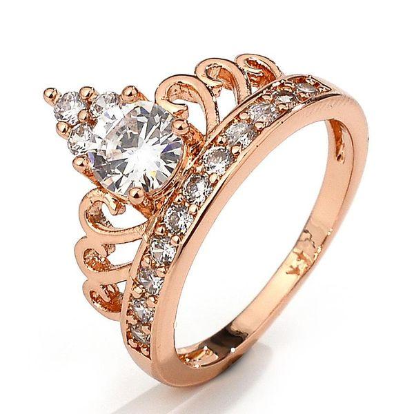 Popular crown jewelry zircon ring NHQL172077