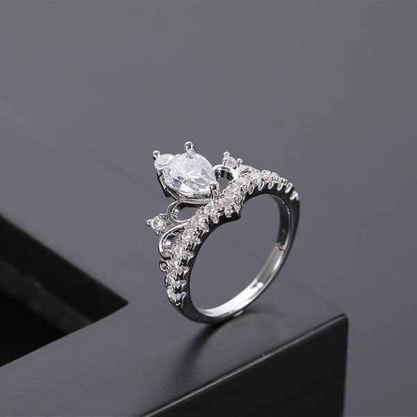 Fashion Jewelry Rings Explosion Crown Zircon Ring Female NHQL172098