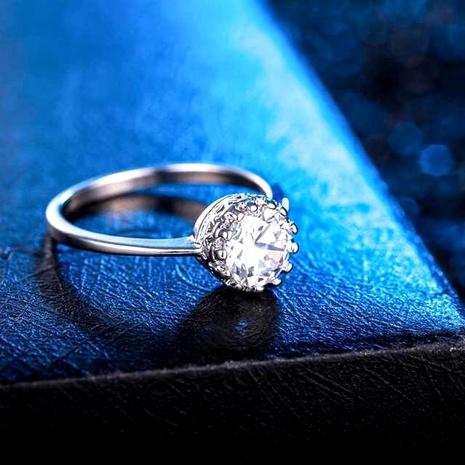 Or 18k zircon non décoloration micro incrustation zircon anneau de mariage coeur et huit flèches bague de pierres précieuses NHIM172165's discount tags