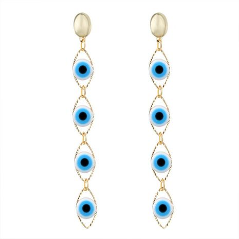 Fashion bohemian long eye drop earrings NHGO171828's discount tags