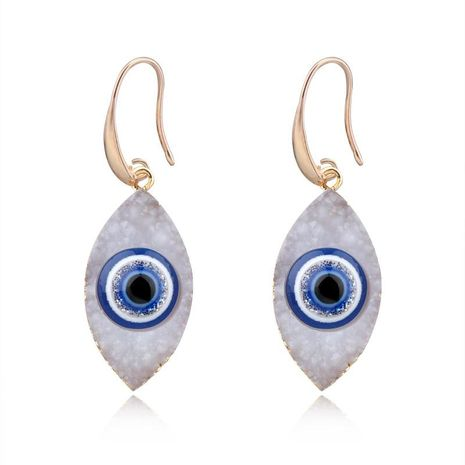 Retro personality eyes imitation natural stone resin earrings NHGO171830's discount tags