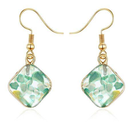 Boucles d'oreilles coquille de pierre en forme de diamant vintage boucles d'oreilles en résine NHGO171853's discount tags